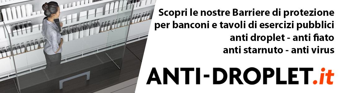 Barriere di sicurezza AntiDroplet