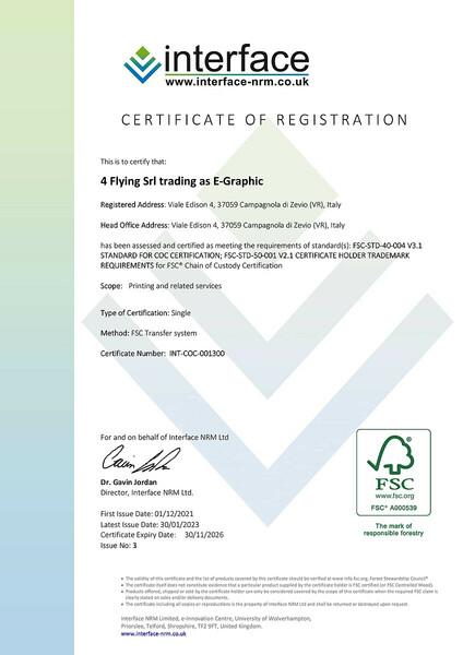 Certificazione FSC per eGRAPHIC